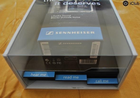 A embalagem dos Sennheiser MM70i
