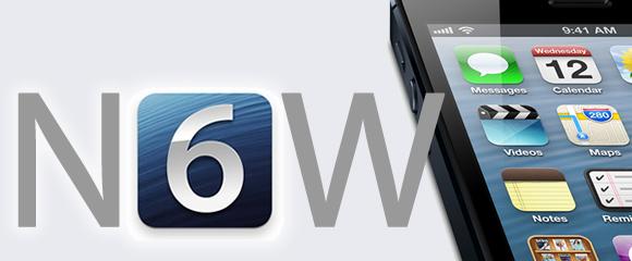 now ios 6 iphone