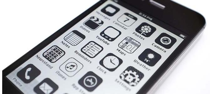 iOS 7 Preto e branco