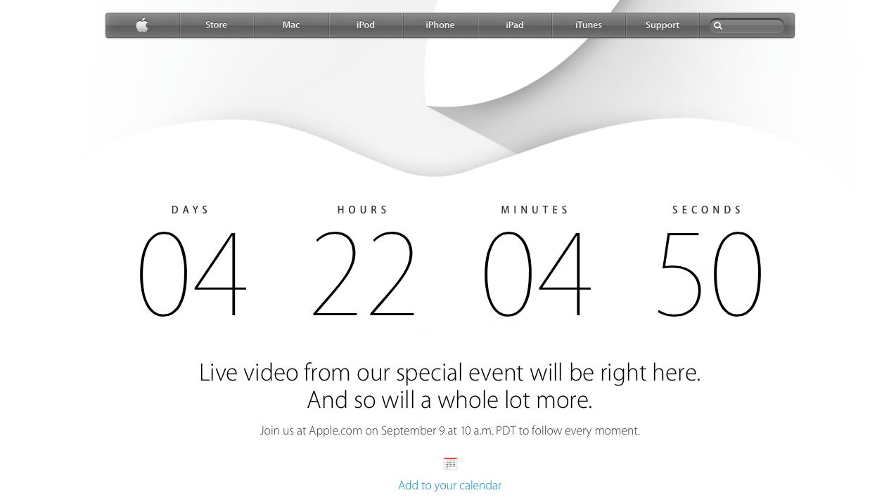Apple Live 9 Setembro