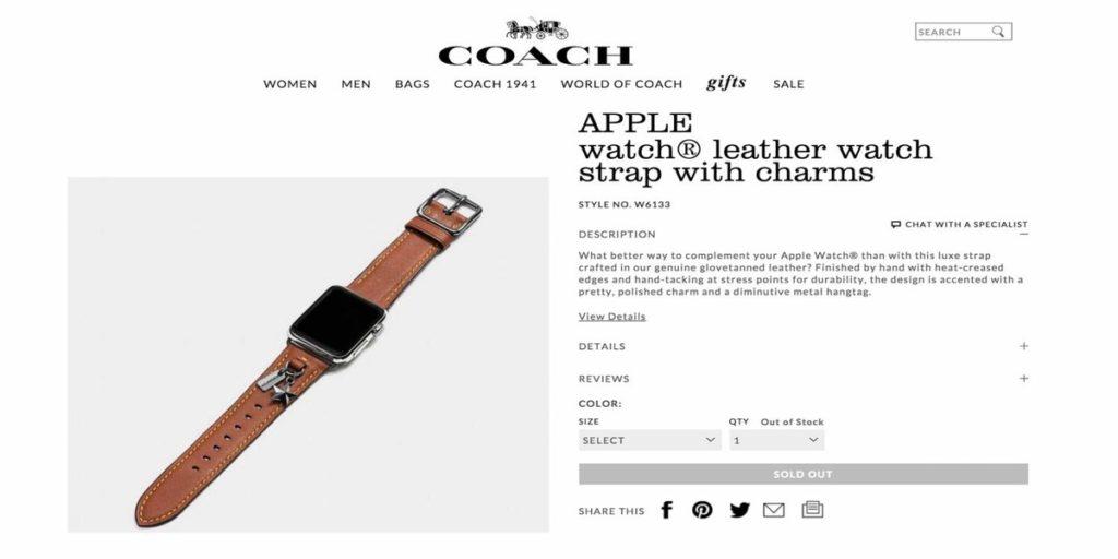 Bracelete Apple Watch Coach Pedro Topete