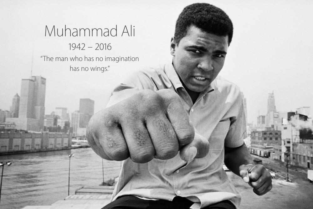Muhammad Ali homenagem página Apple Pedro Topete