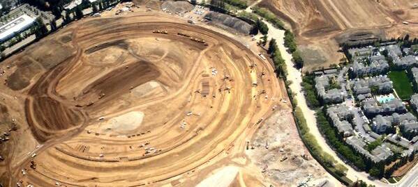 Primeira imagem aérea do terreno do Apple Campus 2 - iClub