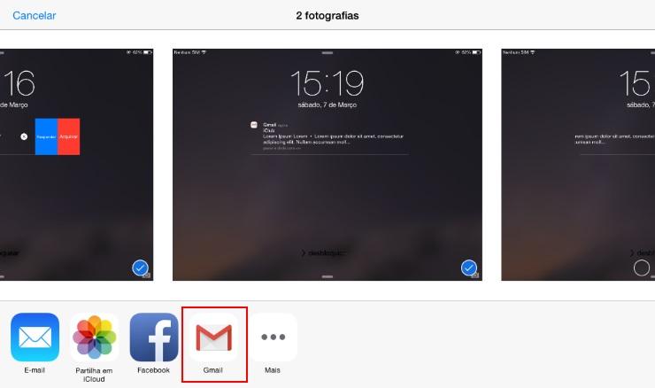 Gmail para iOS - Anexo