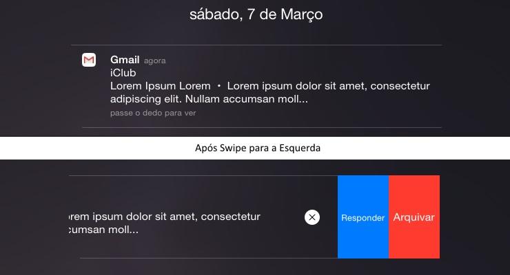 Gmail App para iOS - Quick Action