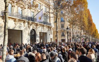 77600e12f1b Veja as fotos da abertura da nova Apple Store Champs-Élysées em Paris